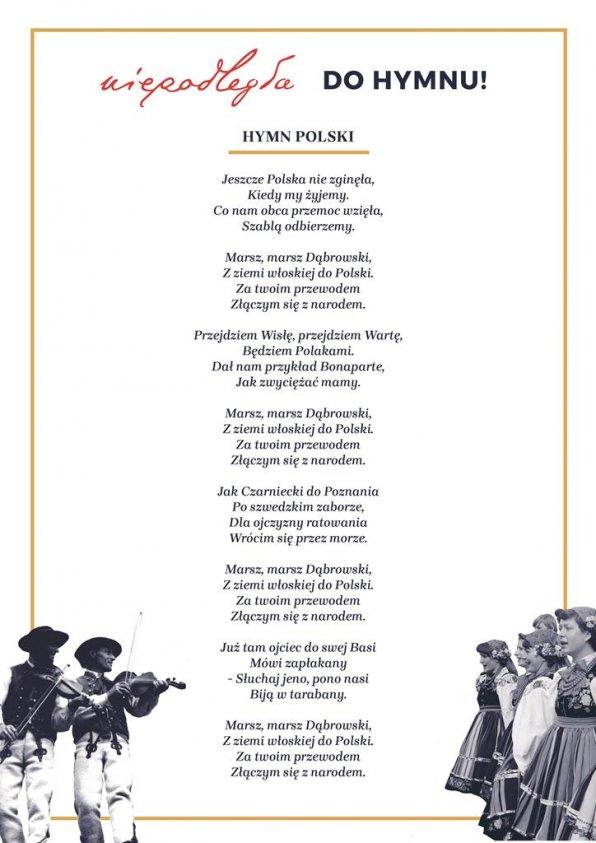 Drawszczanie wspólnie zaśpiewają hymn