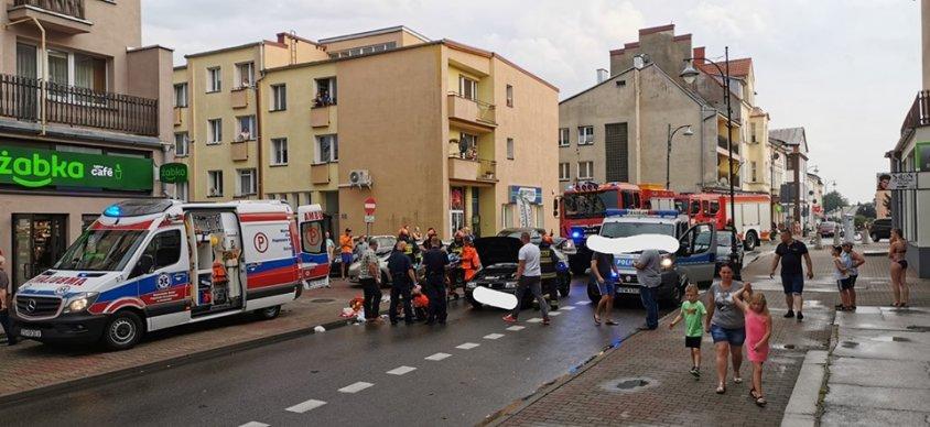 Potrącenie pieszego w Drawsku przy ul. Sybiraków