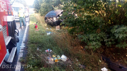 Poważny wypadek w okolicach miejscowości Drahimek