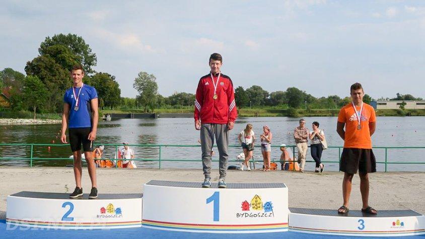 Emil i Noel Czepe medalistami podczas Mistrzostw Polski w kajakarstwie
