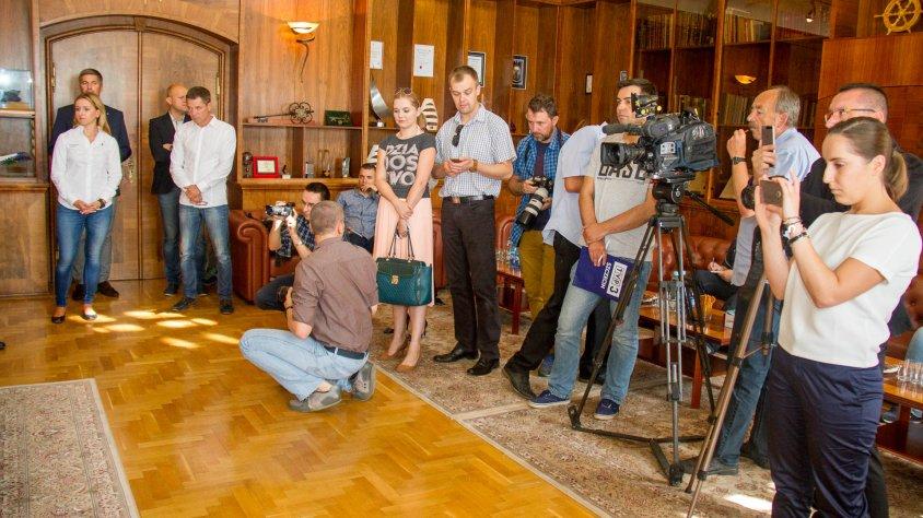 Konferencja prasowa przed rajdem Columna Medica Baja Poland