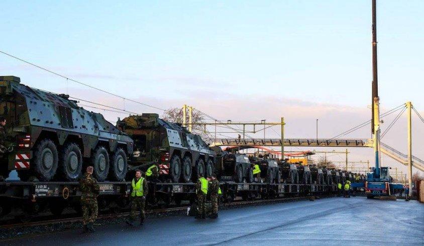 Wojsko w drodze do Drawska Pomorskiego