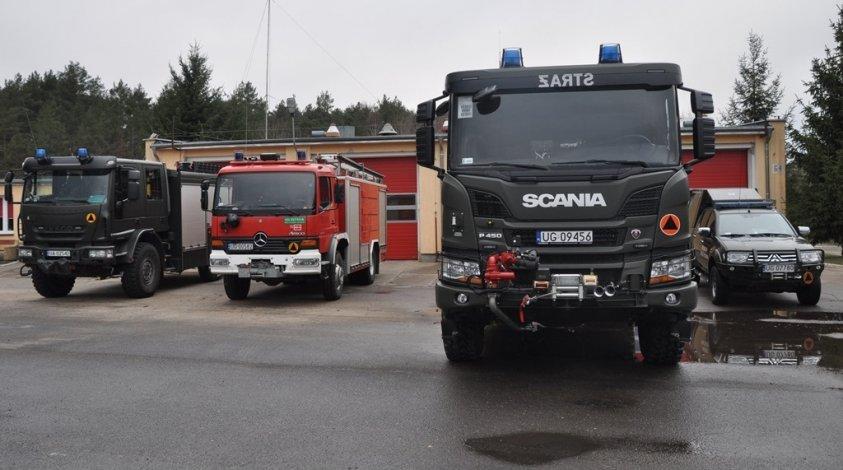 Wojskowa Straż Pożarna Oleszno może się pochwalić nowym ciężkim samochodem ratowniczo-gaśniczym