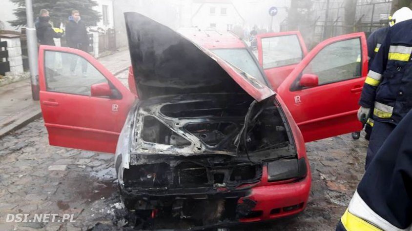 Palił się samochód w Czaplinku