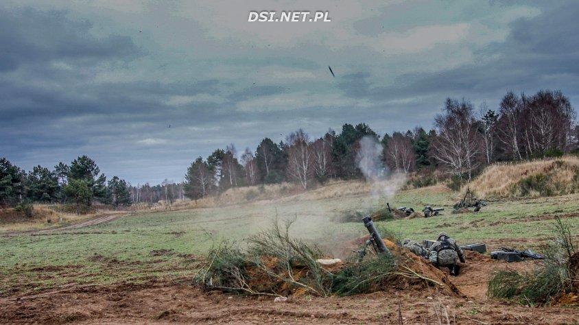 Na poligonie ogniowcy strzelali ze 120 mm granatów