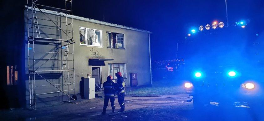 Pożar w nocy, ewakuowano mieszkańców budynku