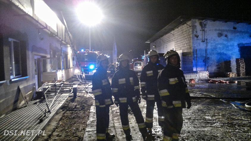 Pożar hurtowni w Złocieńcu