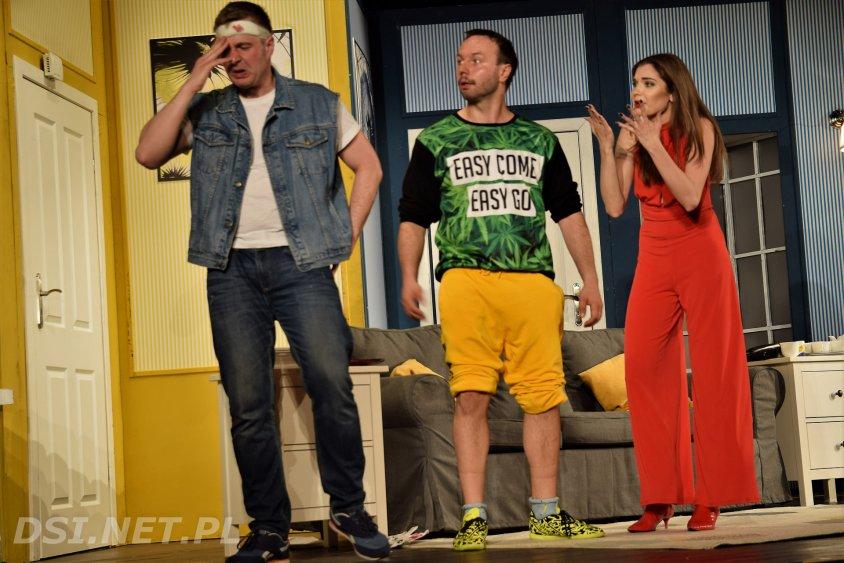Komedia Mayday w Złocieńcu. Aktorzy z BTD grali znakomicie