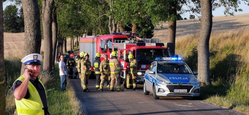 Wypadek w okolicach Lubieszewa.