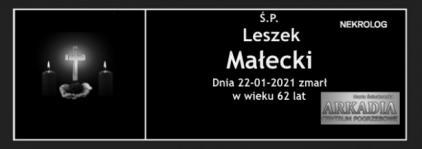 Ś.P. Leszek Małecki