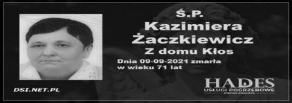 Ś.P. Kazimiera Żaczkiewicz