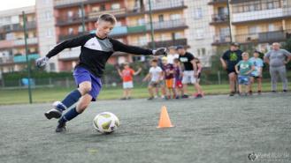 Sportowa impreza dla dzieci i młodzieży na drawskim orliku