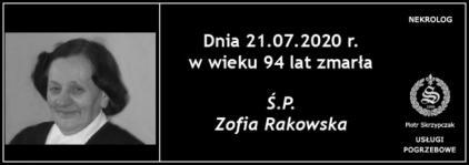 Ś.P. Zofia Rakowska