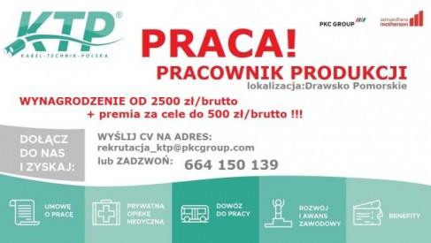 Rusza nabór na PRACOWNIKA PRODUKCJI w PKC Group Kabel-Technik-Polska Spółka z o.o.