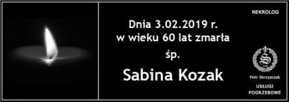 Ś.P. Sabina Kozak
