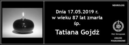 Ś.P. Tatiana Gojdź