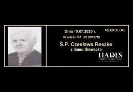 Ś.P. Czesława Reszke