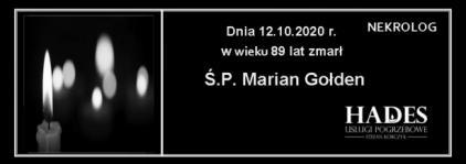 Ś.P. Marian Gołden