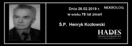 Ś.P. Henryk Kozłowski
