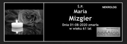 Ś.P. Maria Mizgier
