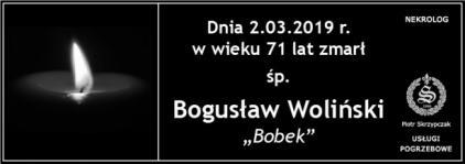 """Ś.P. Bogusław Woliński """"Bobek"""""""