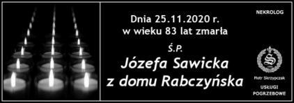 Józefa Sawicka z domu Rabczyńska