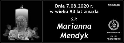 Ś.P. Marianna Mendyk