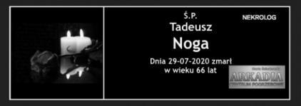 Ś.P. Tadeusz Noga