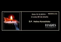 Ś.P.  Halina Karasińska
