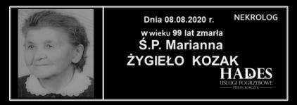 Marianna Żygieło  Kozak