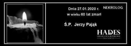 Ś.P. Jerzy Pająk