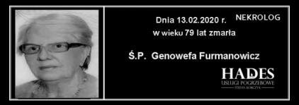 Ś.P. Genowefa Furmanowicz