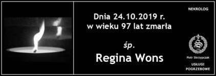 Ś.P. Regina Wons