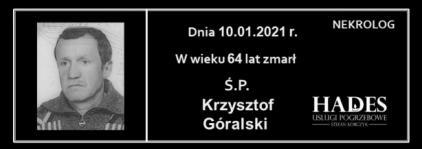 Ś.P. Krzysztof Góralski