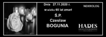 Ś.P.CZESŁAW BOGUNIA