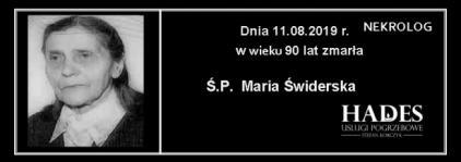 Ś.P. Maria Świderska