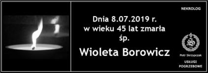 Ś.P. Wioleta Borowicz