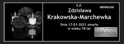 Ś.P. Zdzisława Krakowska-Marchewka