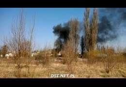 Na gorąco: Pożar na obrzeżach Drawska. Spaliły się opony