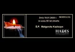 Ś.P. Małgorzata Kaziszyn