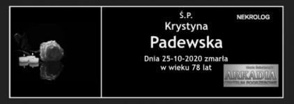 Ś.P. Krystyna Padewska