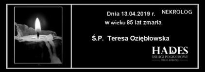 Ś.P. Teresa Oziębłowska