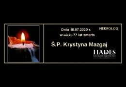Ś.P. Krystyna  Mazgaj