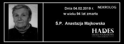 Ś.P. Anastazja Majkowska