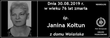 Ś.P. Janina Kołtun