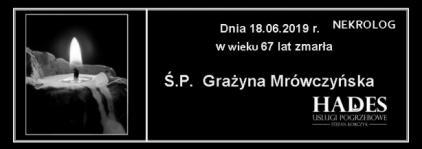 Ś.P. Grażyna Mrówczynska