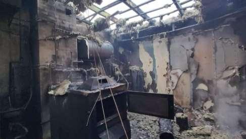 Groźny pożar w Drahimku