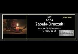 Ś.P. Anna Zapała-Oręczak