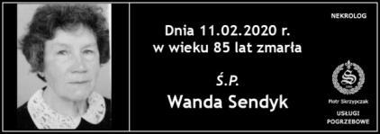 Ś.P. Wanda Sendyk