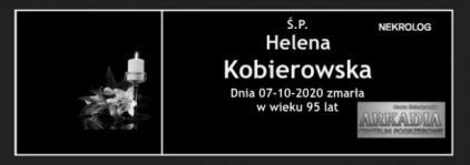 Ś.P. Helena Kobierowska